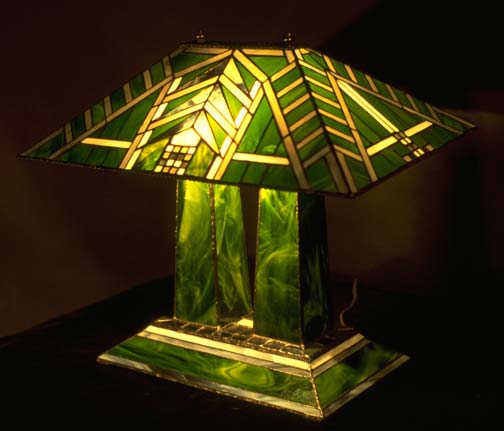 Wright Brothers Stained Glass Lamp : Lamps